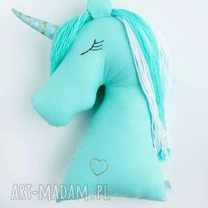 bajkowy miętowy jednorożec poduszka maskotka przytulanka, jednorożec, pony, kucyk