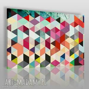 obrazy obraz na płótnie - abstrakcja trójkąty 120x80 cm 22901, abstrakcja