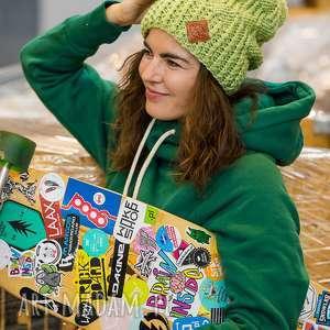 czapki follow me guacamole, zielona, limonka, czapka, opadająca