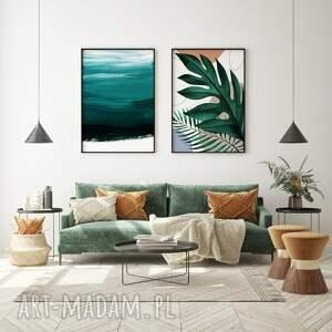 plakaty zestaw zielonych plaktów 50x70