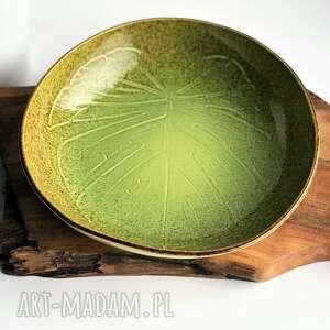 misa ceramiczna monstera - liść ceramiczny, ceramika, misa, miska, patera