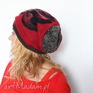 czapka handmade czesanką filcowane - czapka, welna, czesanka, merynosy, mama, prezent