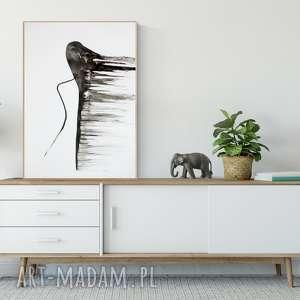 Obraz malowany ręcznie 50 x 70 cm, abstrakcja kobieta, plakat