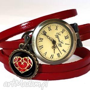 serce - zegarek bransoletka na skórzanym pasku, serce, zelda, zegarek, prezent
