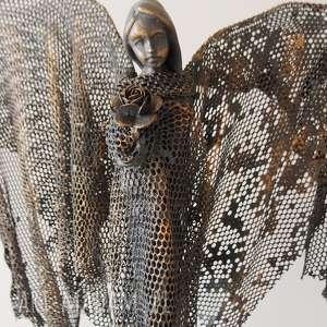 świąteczny prezent, anioł spokoju, dekoracje wnętrz, dekoracja domu, ozdoba, figura