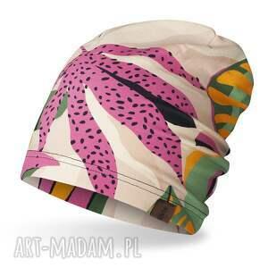 Ekoszale: cienka pojedyncza czapka krasnal, smerfetka damska na wiosnę, czapka dresowa,