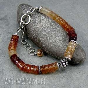 bransoletka kolory jesieni z turmalinem, jesienna, orientalna, klasyczna
