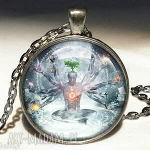 Chakra - Duży medalion z łańcuszkiem, chakra, medalion, orient, medytacja