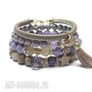hand-made taupe and milka /12 -06 -20/ set