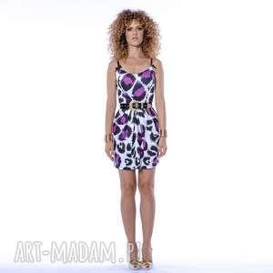 sukienki tecla - sukienka na ramiączkach, mini, panterka, gorsetowa
