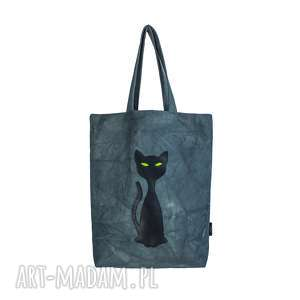 Prezent Torba torebka KOT z neonowymi oczami, pojemna, kobieta, prezent, kot