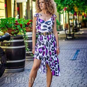 ręcznie zrobione sukienki xenia - asymetryczna sukienka