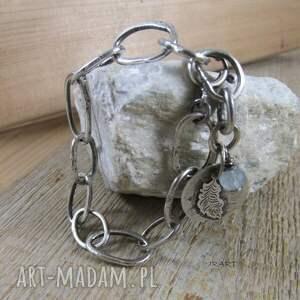 handmade surowy łańcuch - bransoletka