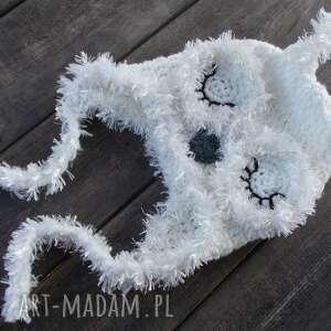 czapka śpiąca sówka śnieżna, sowa, sówka, dla dziecka