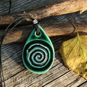 Wisior spirala wisiorki enio art wisor, naszyjnik, wisor