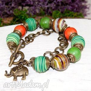 handmade c362 kolorowa bransoletka z kamieniami