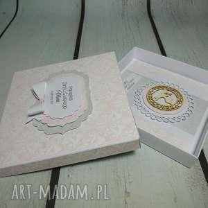 zestaw elegancja w różu, chrzest, komunia, wyjątkowy, elegancki, urodziny, pamiatka