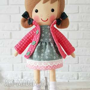 handmade lalki malowana lala matylda