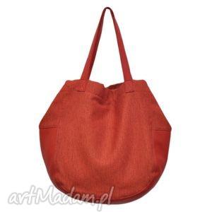 24-0019 czerwona torebka damska worek torba na studia swallow, duże, modne, torebki