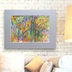 ręcznie malowany obraz, kolorowy rysunek, nowoczesny obrazek, ładny rysunek