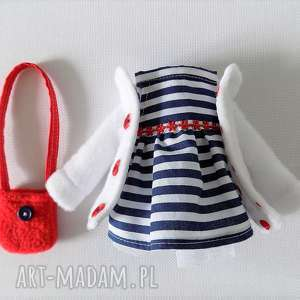 ZESTAW UBRANEK Z TOREBKĄ, lalka, zabawka, ubranka, płaszczyk, sukienka, torebka