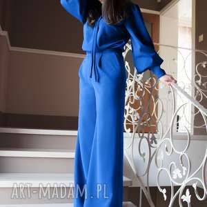 Bien Fashion Elegancki kombinezon damski z szerokimi nogawkami, elegancki, glamour