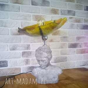 lampa szkło artystyczne beton architektoniczy fusing, lampa