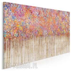 obraz na płótnie - kropki kolorowy abstrakcja 120x80 cm 72701, kropki, plamy