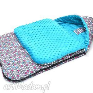 ręcznie zrobione dla dziecka milutka śpiworek do wózka minky 120 cm uniwersalny