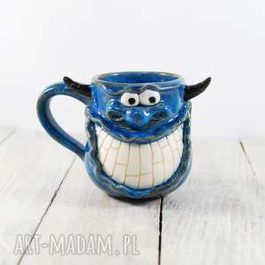kubki kubek stworek, potworek z rogami, kawa, herbata, ceramiczny, prezent