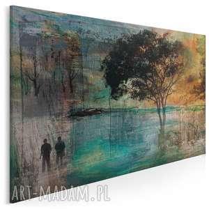 obraz na płótnie - drzewo romantyczny 120x80 cm 11701, drzewo, para