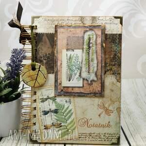 zielnik, notes n30, notatnik, zielarski, ważki, paprocie, notes