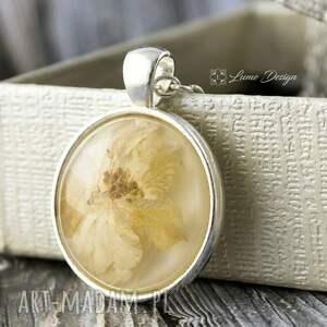 Medalion z prawdziwym kwiatem, wisiorek, naszyjnik, medalion, kwiat, naturalny