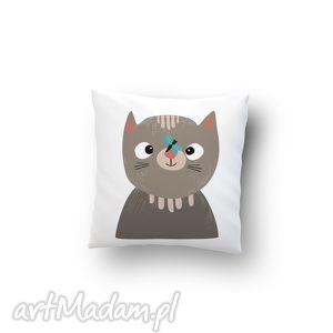 poszewka - kot, poduszka, poszewka, prezent