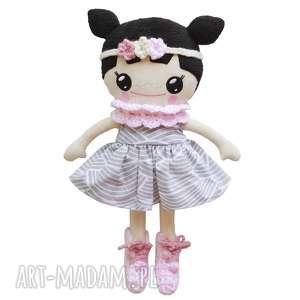 bawełniana lalka lalalila - poofy cat, lalka, lala, laleczka, kwiaty, różowe, kucyki