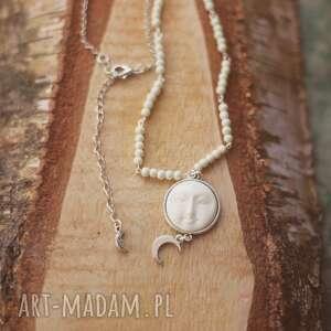 Moonspell - naszyjnik z księżycem, księżyc, kość, księżycowy