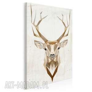 obraz na płótnie - jeleń geometryczny w pionie 50x70 cm 48503