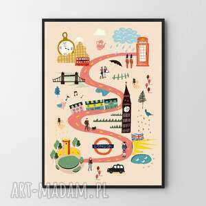 plakaty plakat obraz ilustracja londynu 30x40