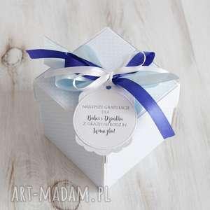 pudełko - kartka na chrzest lub okazji narodzin - narodziny prezent