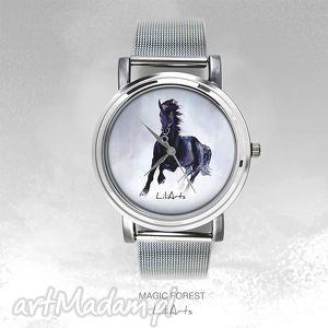 ręczne wykonanie zegarki zegarek, bransoletka - czarny koń magic forest watch