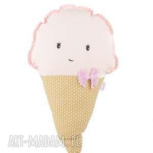 Poduszka z serii lody - truskawkowa Lola, poduszka, przytulanka, lody, rożek, pokój