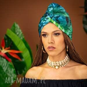 ręcznie robione ozdoby do włosów turban - tropical