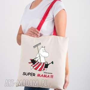 Prezent Licencjonowana torba Muminki z czerwonym uchem dla mamy Super mama, nazakupy