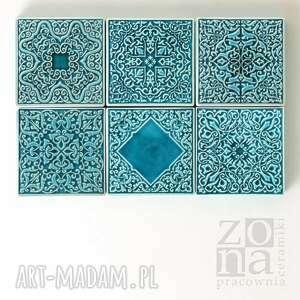 ceramika dekory sześć ornamentów, dekory, kafle, płytki, ścienne, dekoracyjne