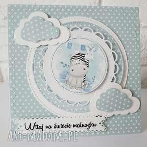 kartka z okazji narodzin dziecka gratulacyjna narodziny chłopiec