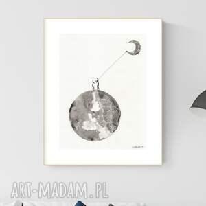 plakaty grafika 30x40 cm wykonana ręcznie, abstrakcja, obraz do salonu, 2965259