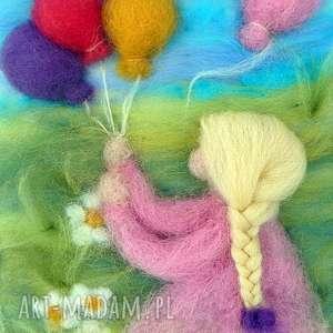 dziewczynka z balonami obraz z kolekcji die wunderschöne, dekoracja