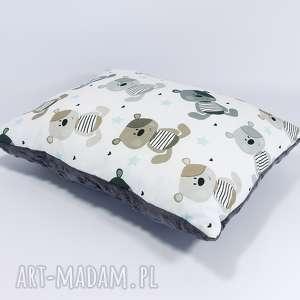urocza podusia minky 30x40cm misie ash - misie, poduszka, bawełna, minky, prezent