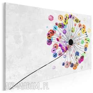 obraz na płótnie - dmuchawiec kolorowy 120x80 cm 73501, dmuchawiec, kwiat