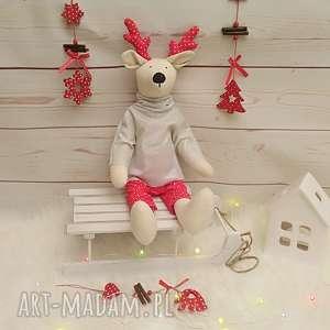 renifer - przytulanka/ dekoracja świąteczna, święta, prezent